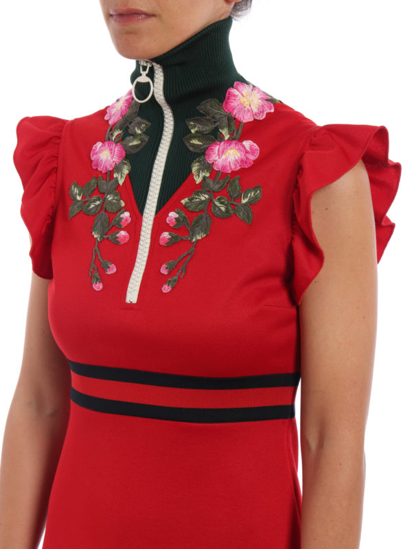 Gucci buy online Knielanges Kleid - Rot