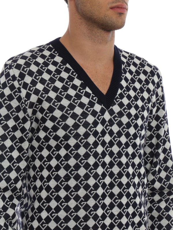 GUCCI buy online V-Pullover - Dunkelblau