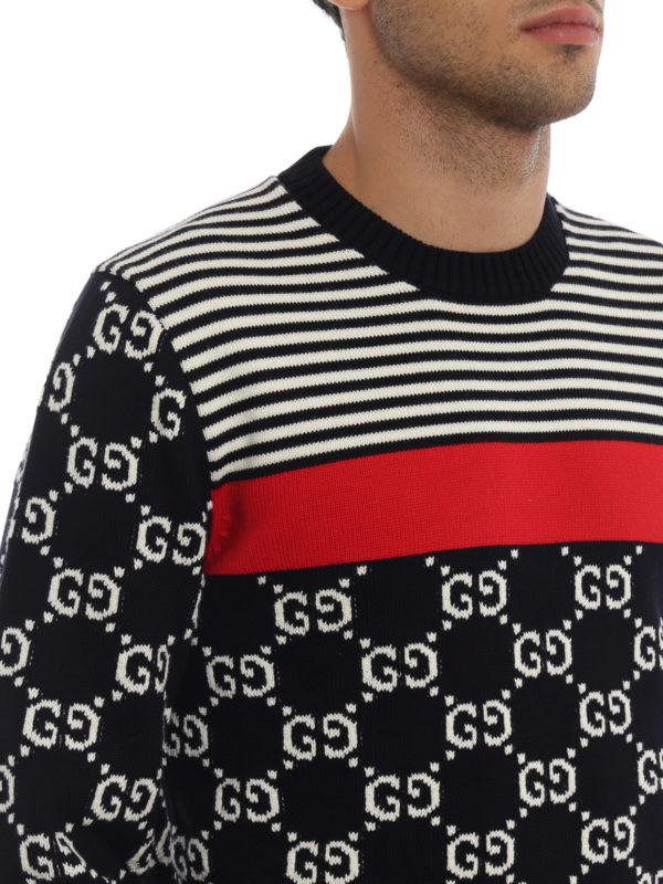 GUCCI buy online Rundhalspullover - Dunkelblau