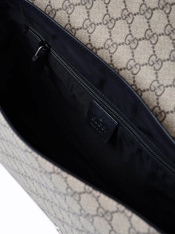 Gucci buy online GG Supreme Web fold over bag