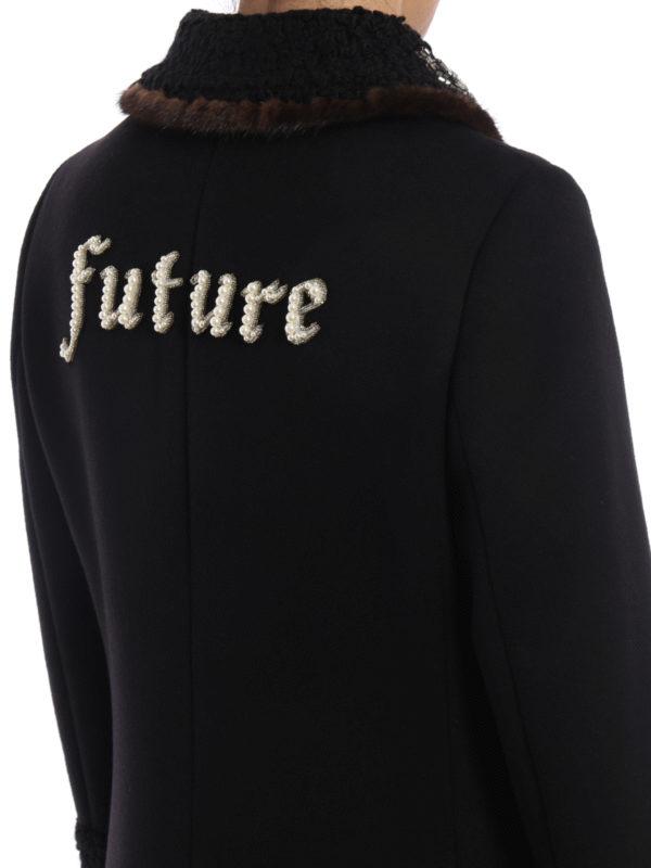 Gucci buy online Knielanger Mantel - Einfarbig