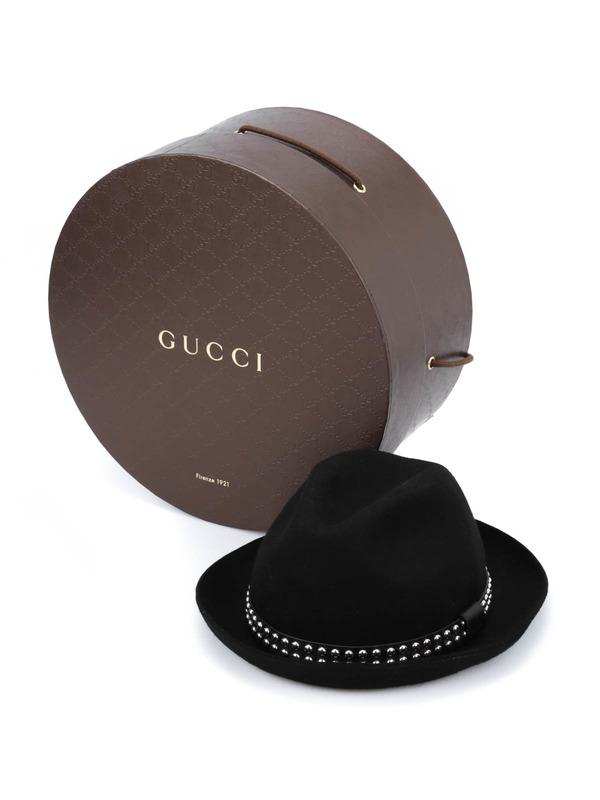 GUCCI buy online Studded felt fedora