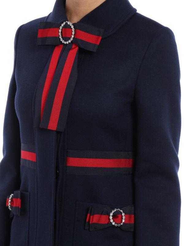 Gucci buy online Knielanger Mantel - Dunkelblau