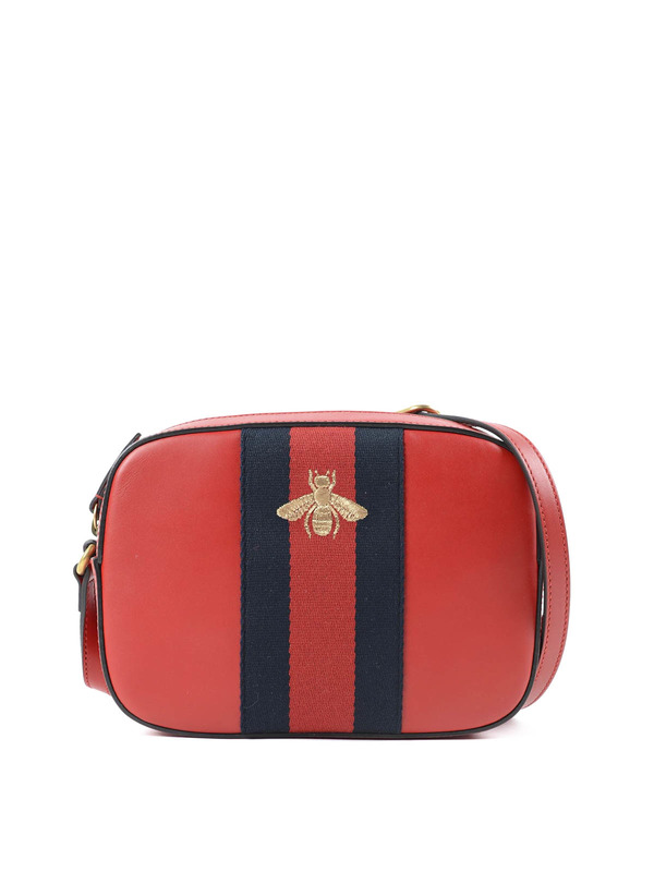 Gucci , Embroidered bee cross body bag , cross body bags