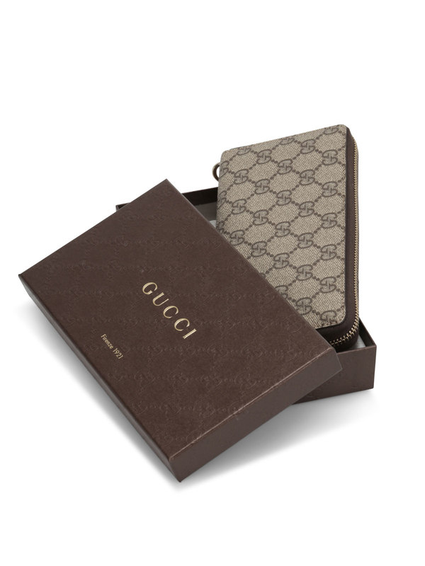 iKRIX GUCCI: GG Supreme canvas wallet