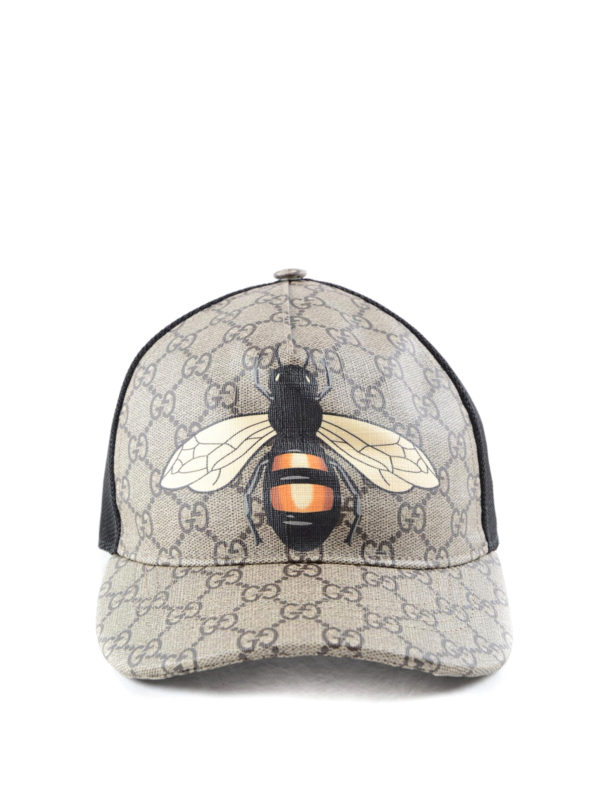 Gucci Bee Print Gg Supreme Baseball Hat Hats Amp Caps