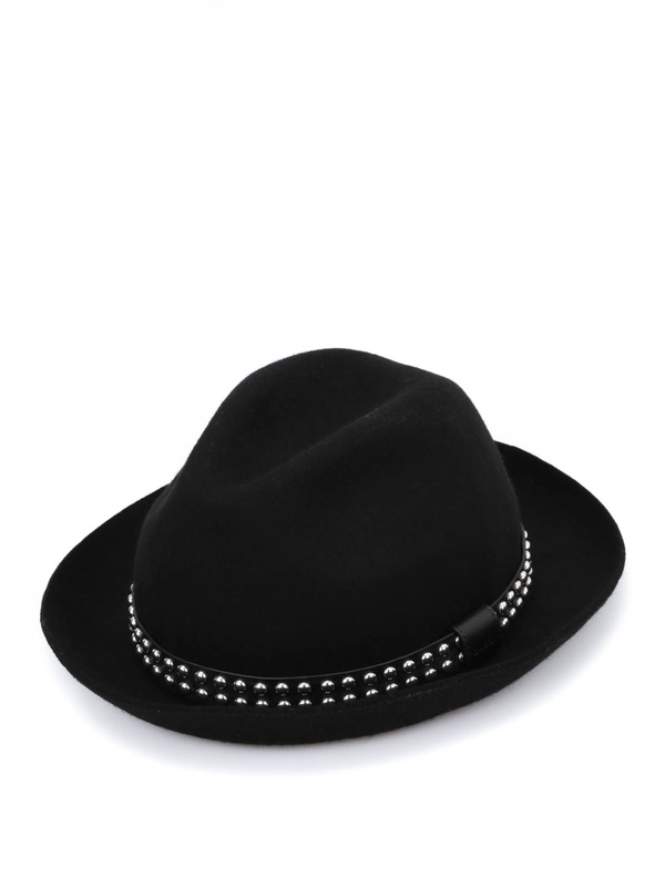 GUCCI: hats & caps - Studded felt fedora