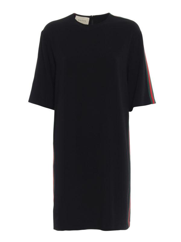GUCCI: Knielange Kleider - Knielanges Kleid - Schwarz