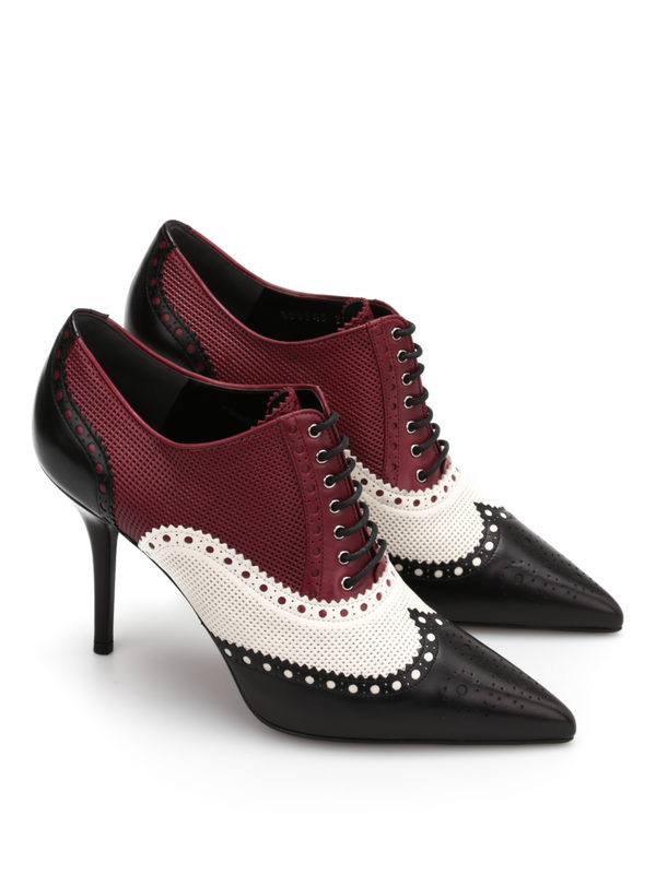 Gucci Gia Brogue Lace Up Heeled Shoes Zapatos Con