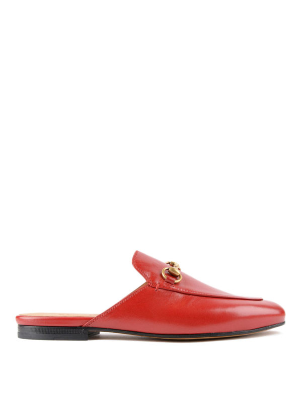 Gucci: Mokassins und Slippers - Slippers - Rot
