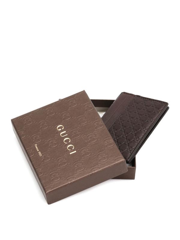 iKRIX GUCCI: Microguccissima leather card case