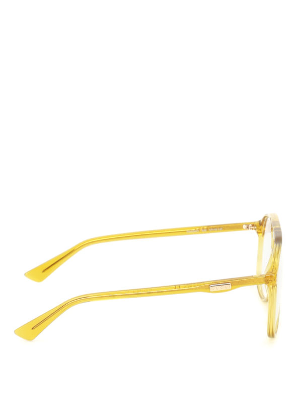 GUCCI: Glasses online - Yellow acetate optical glasses