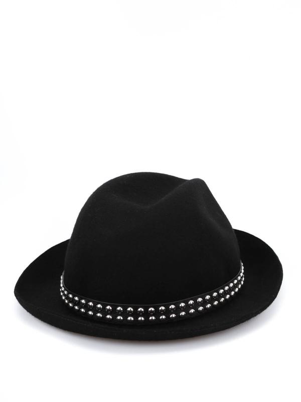 GUCCI: hats & caps online - Studded felt fedora