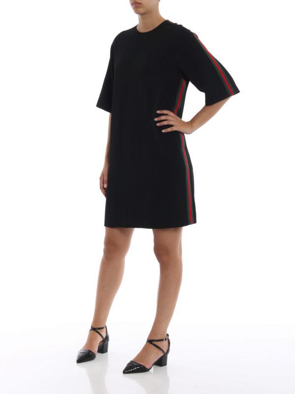 GUCCI: Knielange Kleider online - Knielanges Kleid - Schwarz