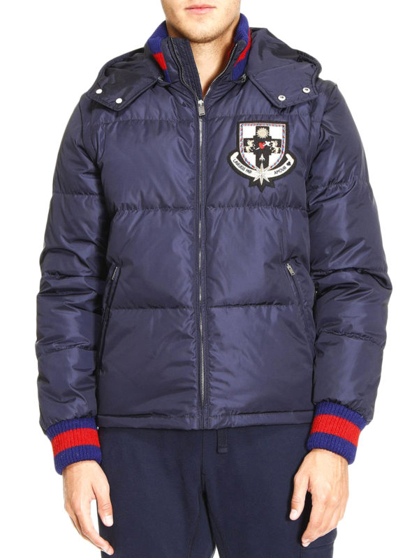 Gucci: padded jackets online - Sylvie Web puffer jacket