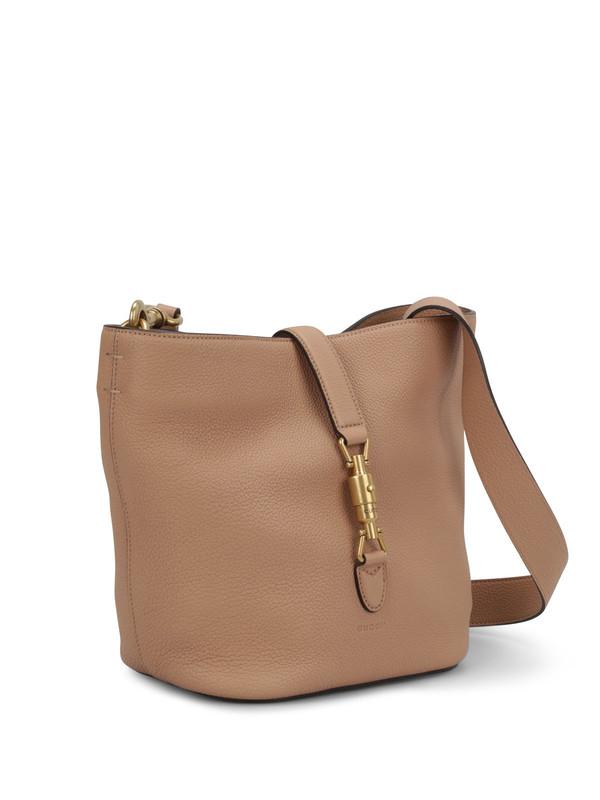 GUCCI: shoulder bags online - Jackie soft leather bucket bag