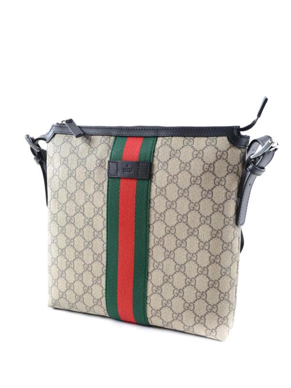GUCCI: shoulder bags online - Original GG canvas Web messenger