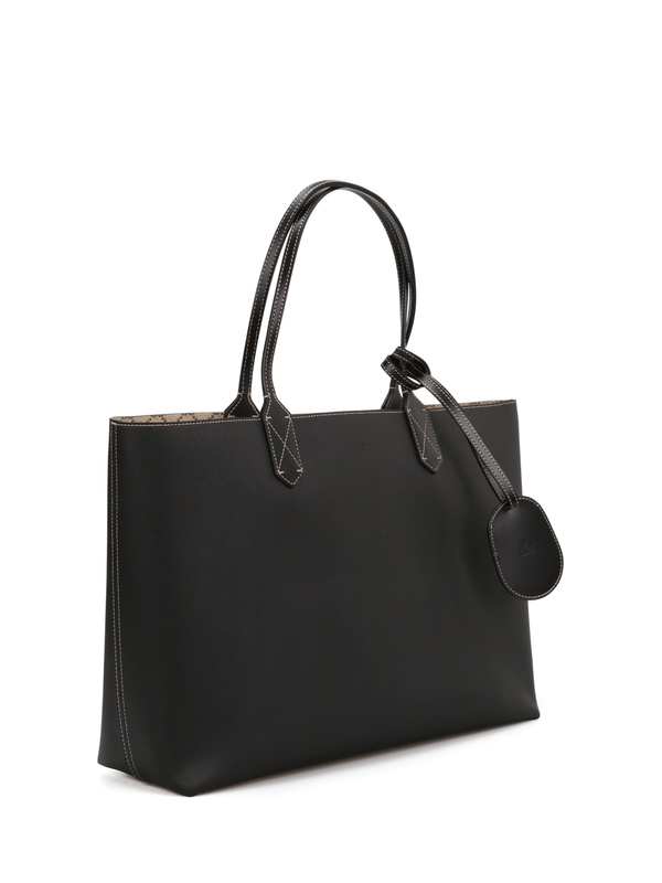 GUCCI: shoulder bags online - Reversible GG leather tote