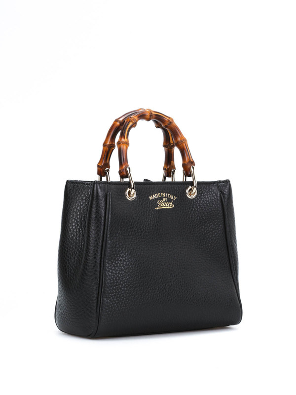 GUCCI: totes bags online - Bamboo mini top handle leather bag