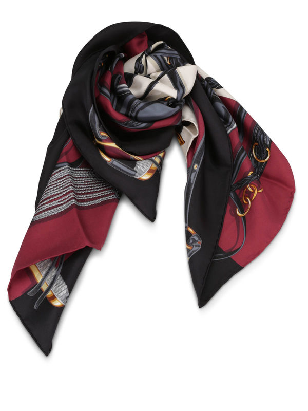 GUCCI: scarves - Equestrian print scarf
