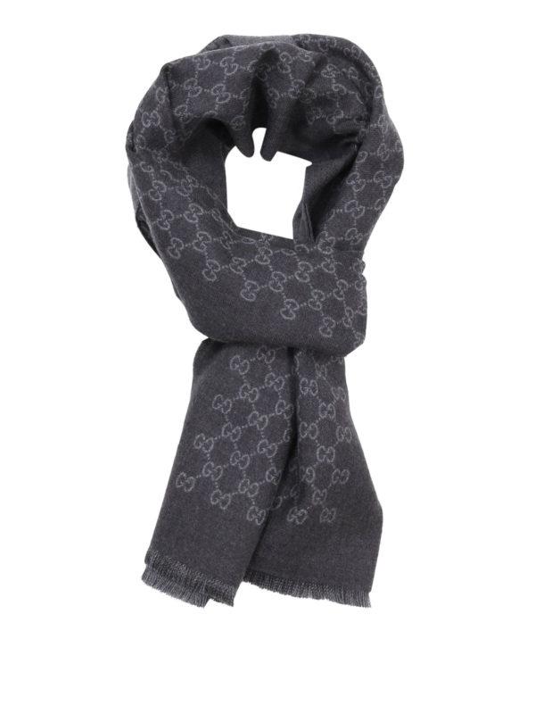 Gucci: Schals - Schal - Grau