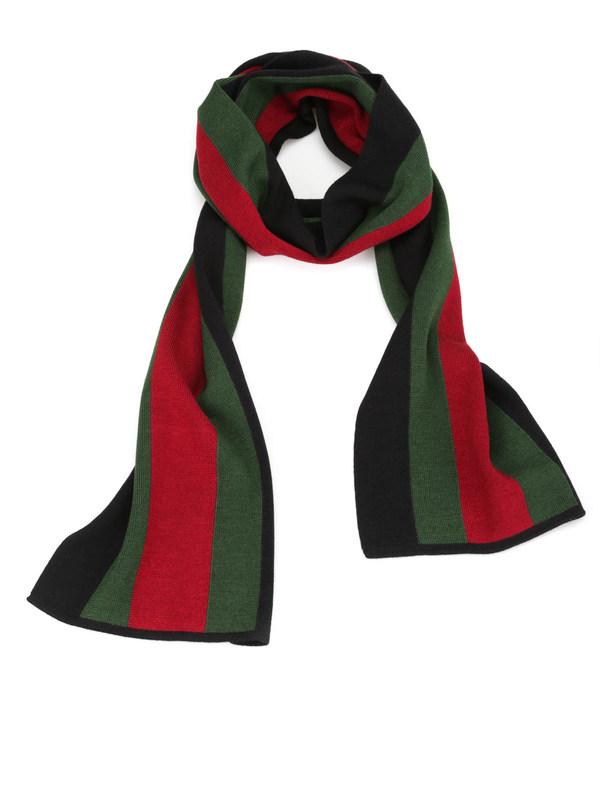 GUCCI: scarves - Web knit scarf