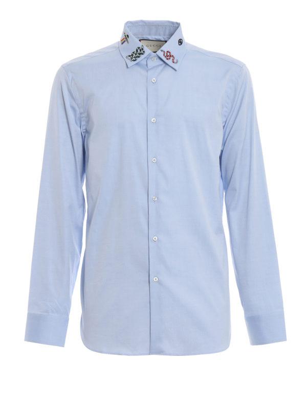 GUCCI: Hemden - Hemd - Hellblau