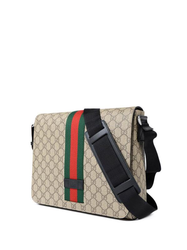 Gucci: shoulder bags online - GG Supreme Web fold over bag