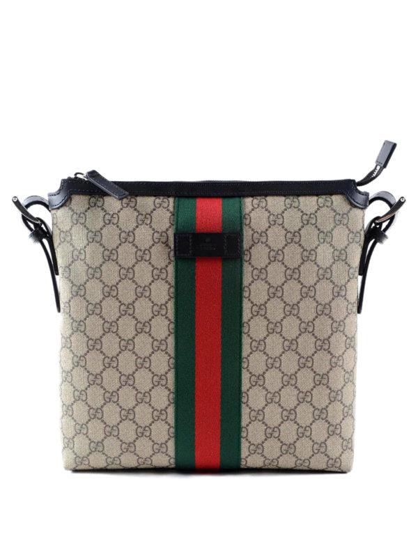GUCCI: shoulder bags - Original GG canvas Web messenger
