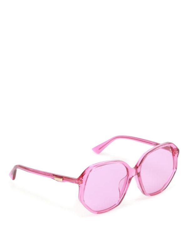 Gucci: sunglasses - Fuchsia geometric sunglasses