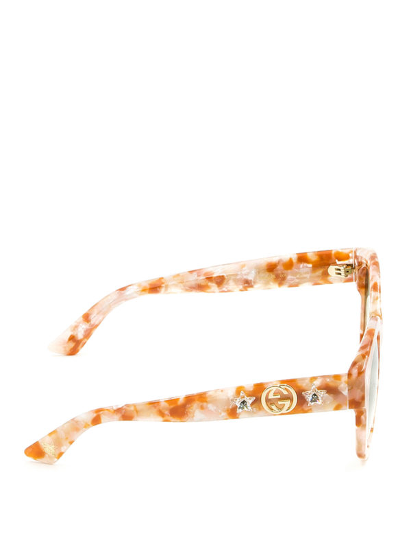 Gucci: Gafas de sol online - Gafas De Sol - Naranja