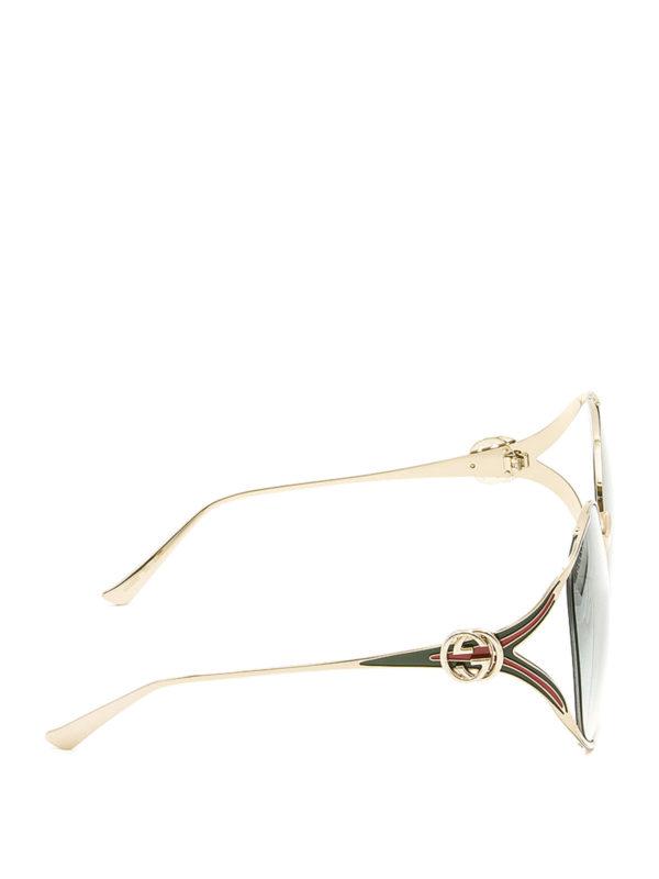 Gucci: Gafas de sol online - Gafas De Sol - Dorado