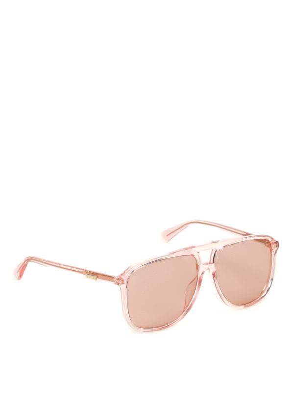 GUCCI: sunglasses - Orange lenses square sunglasses
