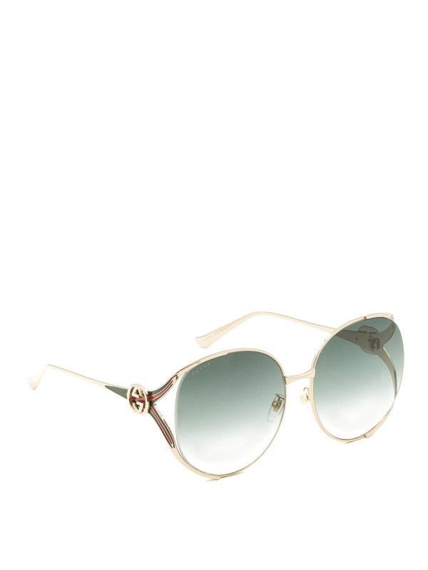GUCCI: Gafas de sol - Gafas De Sol - Dorado
