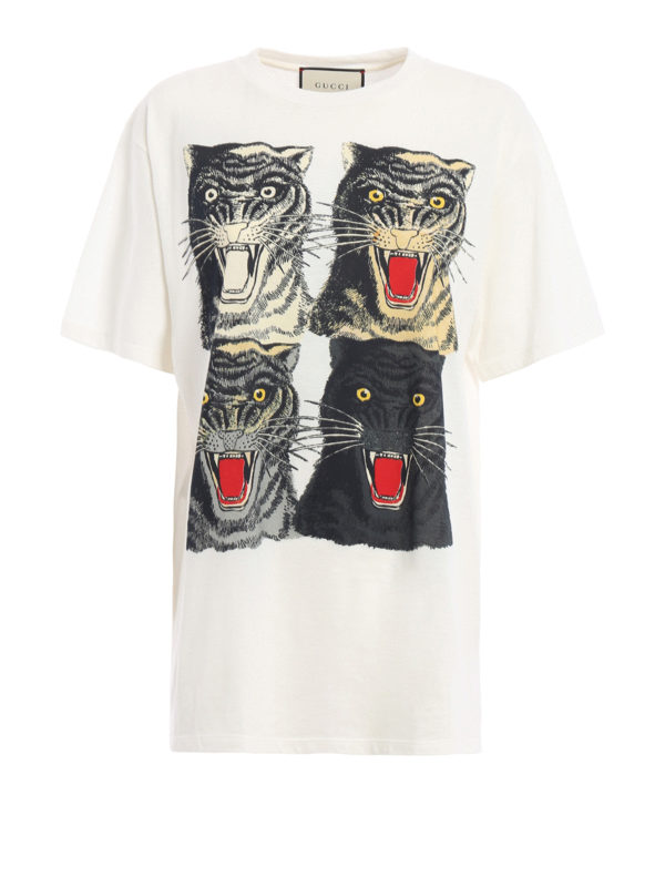 GUCCI: T-shirts - T-Shirt - Weiß