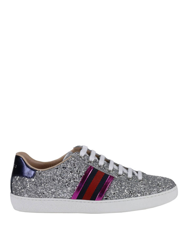 GUCCI: Sneaker - Sneaker - Silber