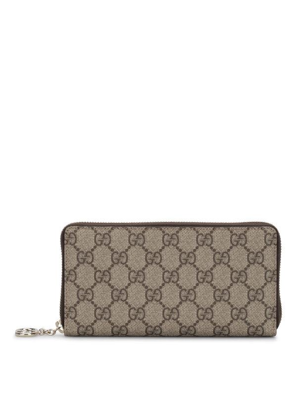Gucci: Portemonnaies und Geldbörsen - GG Supreme canvas wallet