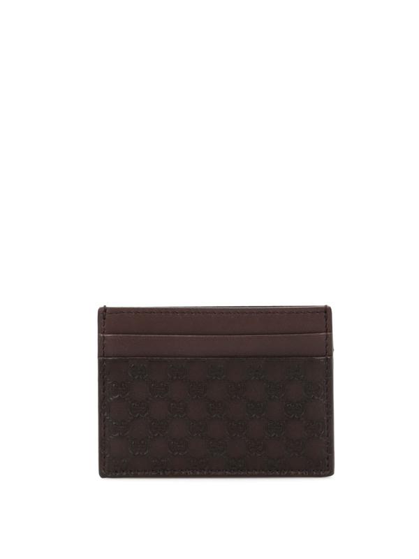 Gucci: Portemonnaies und Geldbörsen - Microguccissima card case