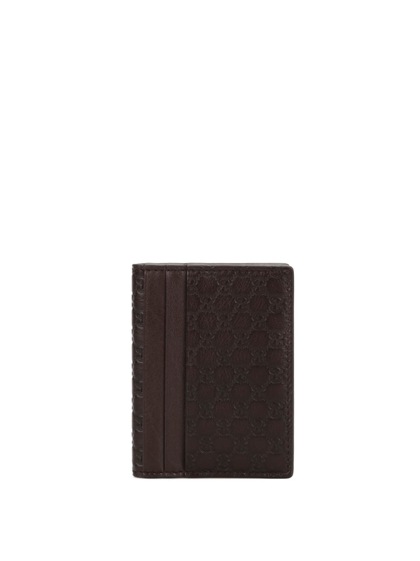 Gucci: wallets & purses - Microguccissima leather card case
