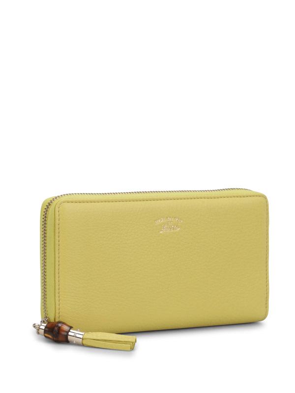 Gucci: Portemonnaies und Geldbörsen online - Zip around wallet with bamboo