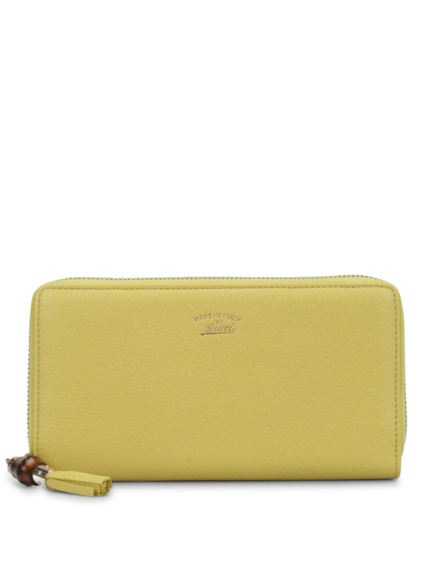 Gucci: wallets & purses - Zip around wallet with bamboo
