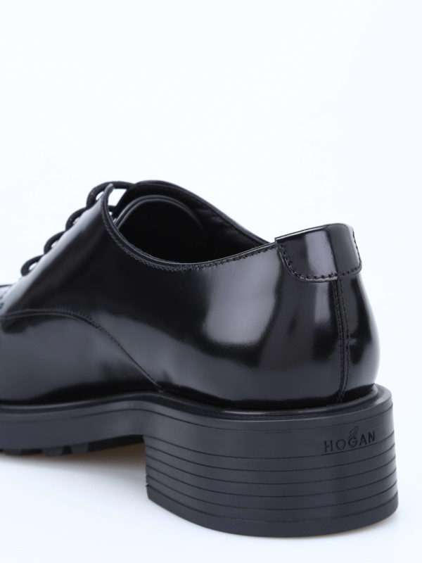 H 332 glossy leather lace-ups shop online: HOGAN