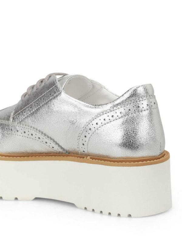 H355 metallic leather Derby shoes shop online: HOGAN