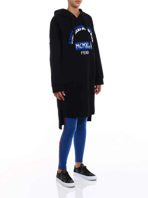Heritage sweatshirt-style dress shop online: Fendi