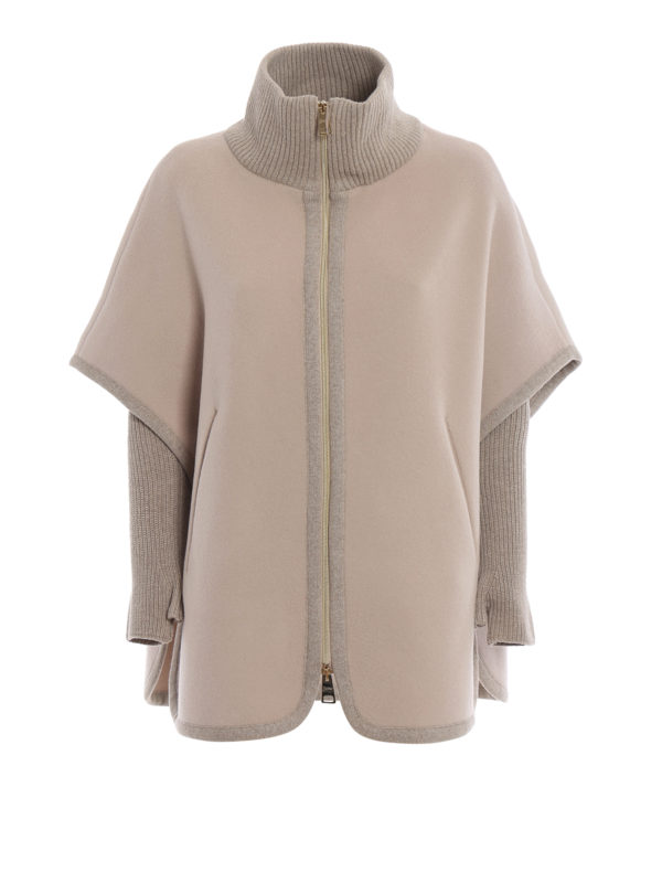HERNO: Capes & Ponchos - Cape - Beige