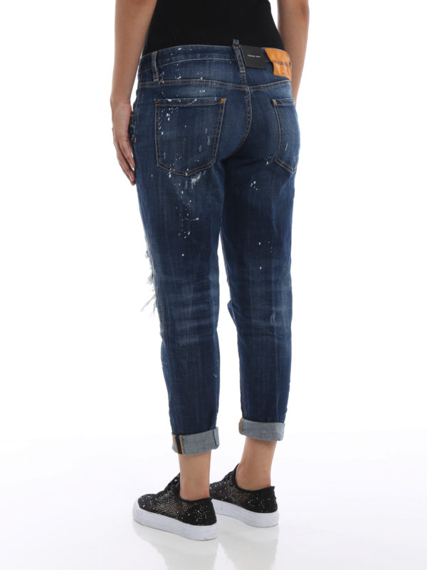 Skinny Jeans - Dunkles Jeansblau shop online: DSQUARED2