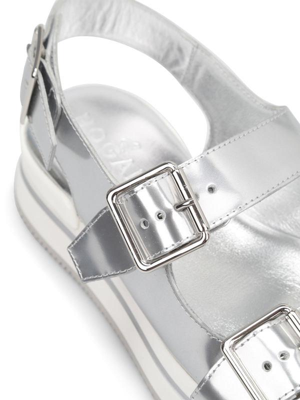 iKRIX HOGAN: Sandalen Fur Damen - Silber