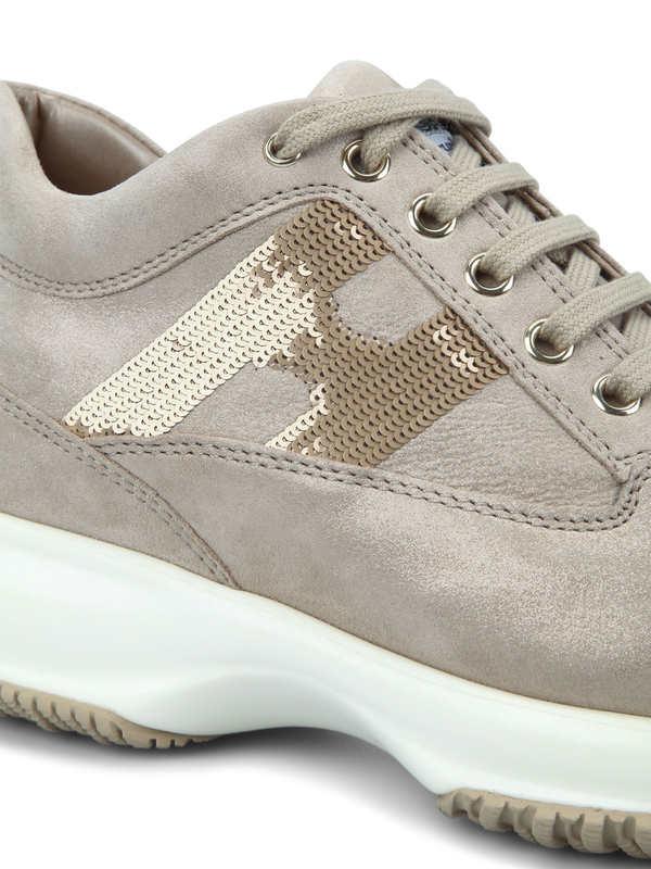 iKRIX HOGAN: Sneaker Fur Damen - Rotgold