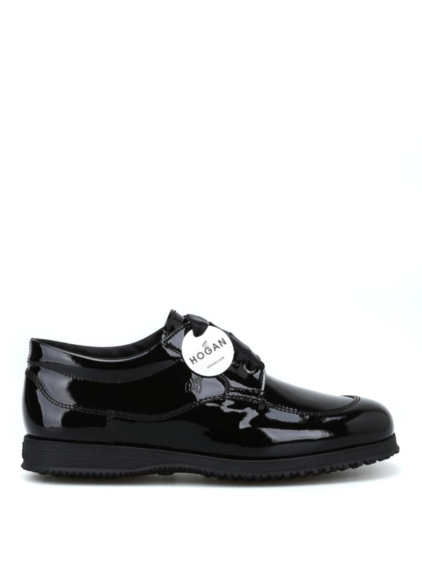 HOGAN: lace-ups shoes - Traditional patent leather lace-ups