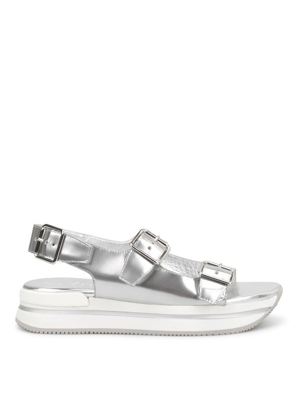 HOGAN: Sandalen online - Sandalen Fur Damen - Silber